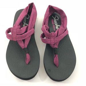Skechers | Yoga Foam Purple Marbled Sandal 9